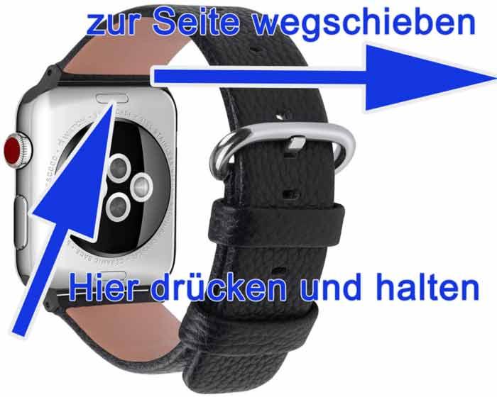 Schritt für Schritt Anleitung Armband tauschen Apple Watch